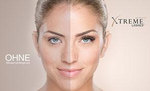 Xtreme Lashes Vorher Nachher Effekt Wimpernverlängerung