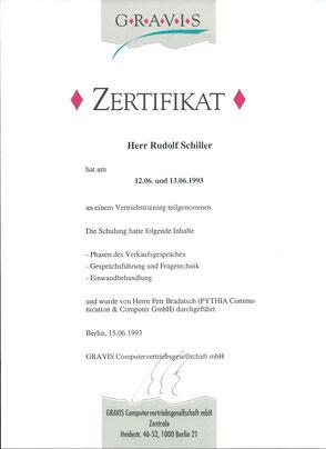 Zeugnis Rudolf Schiller - Gravis Computer München
