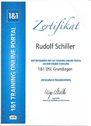 Zeugnis Rudolf Schiller - 1&1 DSL Grundlagen