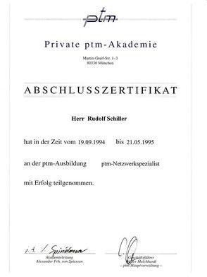 Zeugnis Rudolf Schiller - Netzwerkspezialist