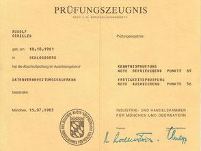Zeugnis Rudolf Schiller - IHK München - DV-Kaufmann
