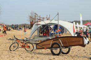 Paperotto Fahrradanhänger reacha, Segelboot zum mitnehmen; P8 Segelboot; faltbares Segelboot; Segeljolle