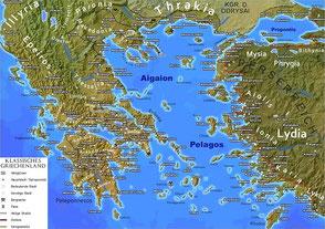 Klassisches Griechenland Postkarte