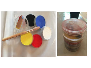 cours de peinture Aix - pastels en godets