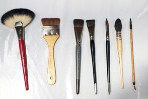 cours de peinture encre - Les outils pour l'encre