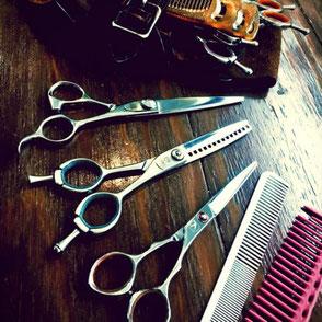 千葉市Barber salon Reva理容室のシザーの写真