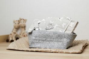 Geschenkeset, babypart, windeltasche, muki hülle, baby, handmade, Wunschdesign, personalisiert