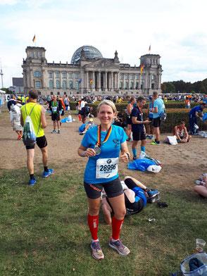 Patricia-gut erholt nach 42.195 Km