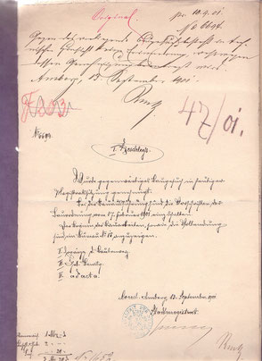 1901 Bauantrag Aussichtsturm