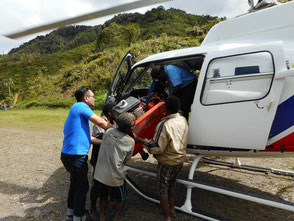 helimission, helikopter, papua