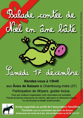 Balade contée de Noël en âne bâté - Samedi 17 décembre à Chambourg sur Indre