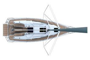 BAVARIA 33 Cruiser Risszeichnung Draufsicht