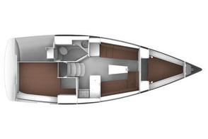 BAVARIA 33 Cruiser Risszeichnung Innen-Layout