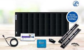 Das SOLARA Power Pack ist das sowohl technisch wie optisch ausgereiftestes Komplett-Set, das derzeit am Markt erhältlich ist. Es steht für modernste Back-Kontakt-Zelltechnologie mit einem Wirkungsgrad von über 22%, und das bei minimalem Gewicht und Platz.