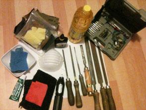 Werkzeug zur Bearbeitung des Specksteins