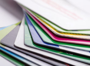 Plastic cards and chip cards printed and coded