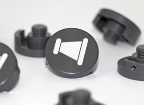 Housing and molding parts printed with a screen printing process