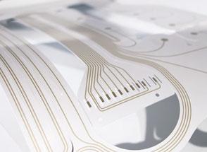 Foil sensors printed in screen printing