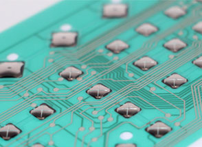 Flexible circuits for membrane keyboards equipped with snap domes