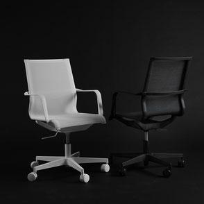 Drehstuhl, Bürostuhl, höhenverstellbarer Tisch, Schreibtisch
