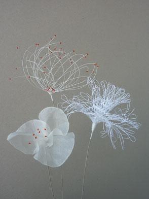 Laurence Aguerre - Sculptures textiles -  fleurs