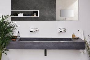 Waschbecken aus Beton SLANT 05 Double