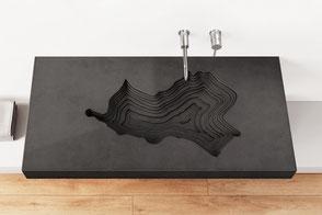 Waschbecken aus Beton MAP