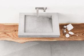 Waschbecken aus Beton SLANT 03