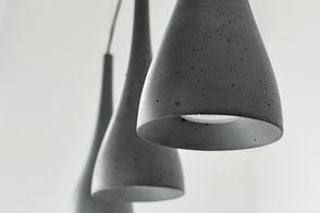 Lampen aus Beton - Zimmerlampen