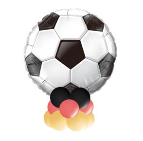 Luftballon Ballon Dekoration Fussball WM EM Geschenk Deko Dekoration PARTY Bubble Folienballon Heliumballon Bouquet Mitbringsel Tor Deutschland Tischdeko Girlande