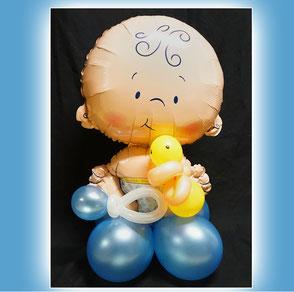 Luftballon Ballon Baby Taufe Geburt Dekoration Geschenk Geldgeschenk