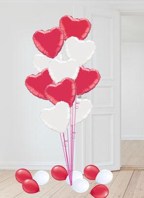 Folienherz Folie Herz Ballon Luftballon Heliumherz Helium schweben Bouquet Geschenk Hochzeit Liebe Überraschung Mitbringsel Ballonversand Versand Heliumherzen