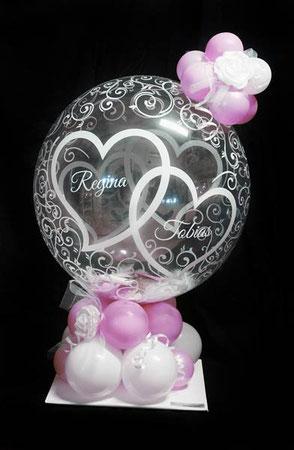 Bubble Ballon Luftballon Geschenk Überraschung Hochzeit Herzlichen Glückwunsch Geldballon Geld Geldgeschenk Herz Verpackungsballon Verpackung Blickfang Hochzeitsfest Trauung Party Standesamt Firma Arbeitskollegen Freunde Rose Mitbringsel