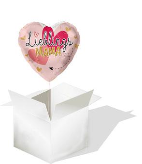 Ballon Folienballon Heliumballon Herz Muttertag Lieblingsmama Mama Lieblingsmensch Versand verschicken Geschenk Überraschung Idee Mitbringsel