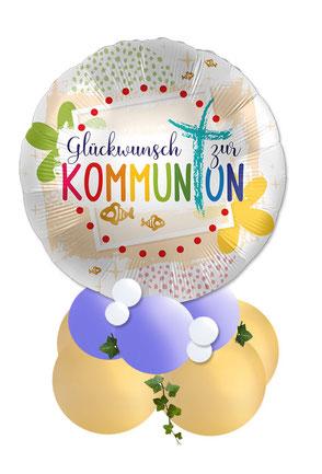 Ballon Luftballon Regenbogen Folienballon Geschenk Geschenkballon Zur Konfirmation alles Gute religion religiöse Feier Deko Dekoration Tisch Tischdeko Versand Mitbringsel Überraschung Geldgeschenk rosa