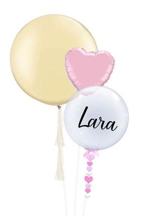 Luftballon Heliumballon Ballon Name Bubble Herz Ballondeko Bubble  Taufe Baby boy Baby girl Junge  Mädchen Baby-Shower Babyparty Party Geburt Luftballon Ballon Geschenk Hingucker Eyecatcher exklusiv Versand