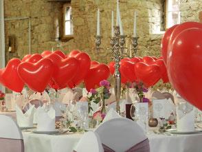 Ballon Weitflug Hochzeit Herzen Heliumballons