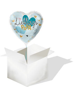 Ballon Folienballon Heliumballon Herz Vater Opa Großvater Vatertag Lieblingspapa Papa Lieblingsmensch Versand verschicken Geschenk Überraschung Idee Mitbringsel