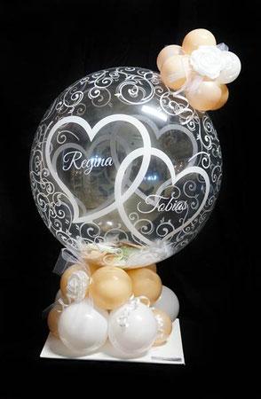 Bubble Ballon Luftballon Geschenk Geschenkballon Überraschung Hochzeit Herzlichen Glückwunsch Geldballon Geld Geldgeschenk Herz Verpackungsballon Verpackung Blickfang Hochzeitsfest Trauung Party Standesamt Firma Arbeitskollegen Freunde Rose Mitbringsel