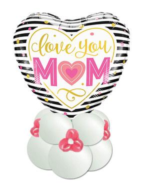 Ballon Folienballon Geschenkballon Muttertag alles Liebe Tochter Herz personalisiert Name I love you Mum