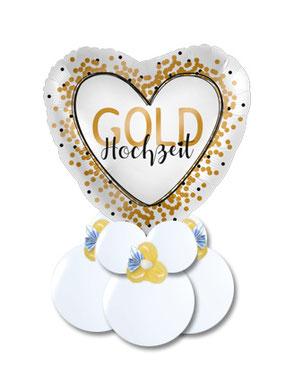 Geschenkballon, Luftballon, Ballon Goldene Hochzeit, silberne, Geldballon