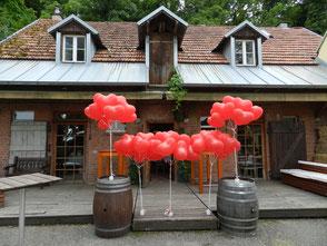 Ballon Weitflug Geburtstag Herzen Heliumballons