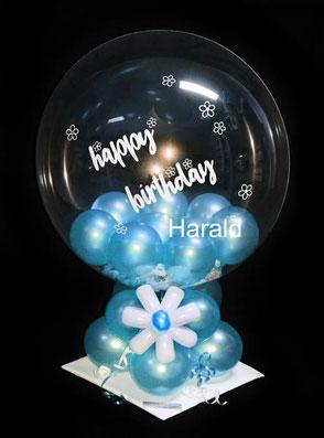 Ballon Luftballon Geschenk Mann Frau happy Birthday Geburtstag Überraschung Mitbringsel Geldgeschenk personalisiert beschriftet mit Name Zahl Alter Personalisierung Versand Deko Dekoration Tischdeko