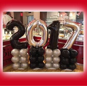 Luftballon Ballon Dekoration Silvester Neujahr Party