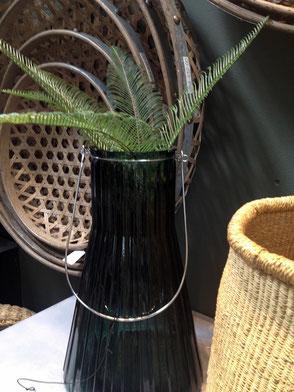 Lerten Vase ANJA Grau Ambiente Collection Terrasse Glas Deko