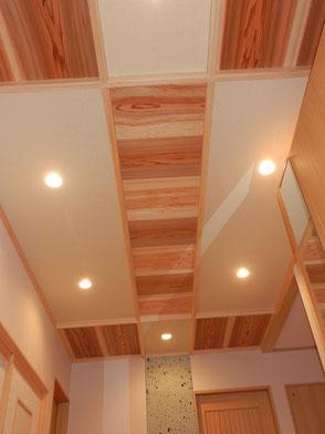 玄関ホール天井の画像