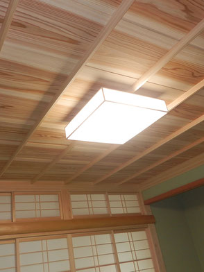 和室:竿縁天井の画像