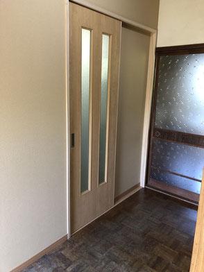 施工後・洗面所入り口の画像