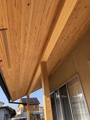 軒天:杉板の画像