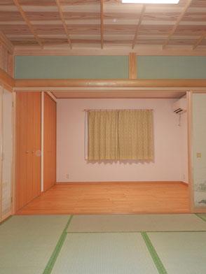 和室 洋間通し間の画像